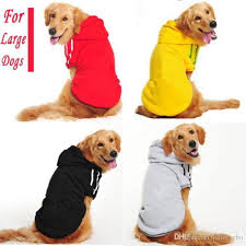 2018 large big pet clothes winter warm hoodie sweater coat
