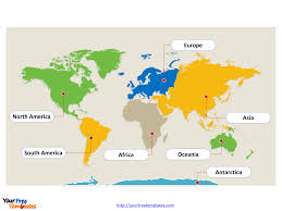 World Continents And Countries Map by Free Continent Editable Map Free Powerpoint Templates