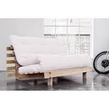 futon canapé canapé bz style scandinave roots futon écru couchage 140