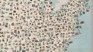 map trip visit every place on this vintage us map for the most epic road