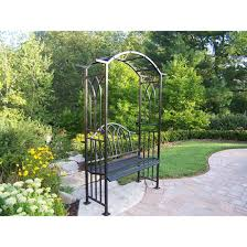 Garden Arbor Swing Metal Garden Arbor With Seat Home Outdoor Decoration