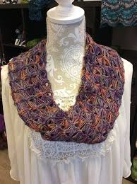 broomstick lace infinity scarf crochet broomstick lace infinity scarf at the black sheep yarn