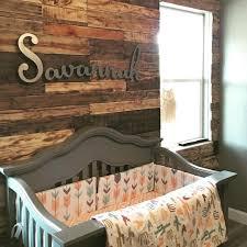 Reclaimed Wood Paneling One Bedroom Wall Aztec Nursery With Reclaimed Wood Pallet Wall Nursery