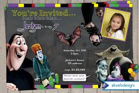 hotel transylvania birthday halloween party invitation