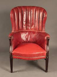 Antique Leather Swivel Chair Chairs Antique Leather Wing Chair Made By Howard And Sons Red
