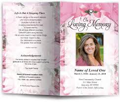 Custom Funeral Programs Funeral Order Of Service Programs With Floral Theme