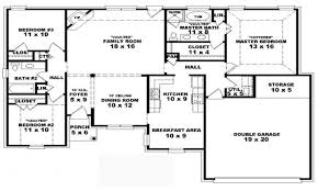 one story house plans with 4 bedrooms four bedroom one story house plans photos and