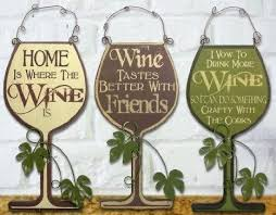 kitchen wall plaques wooden wall plaques buy 3 wine signs decorative wood and metal