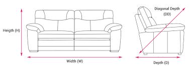 sofa depth how to fit a sofa through your front door blog inspiration