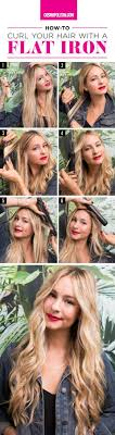 how to make flicks with a hair straightener best 25 curl hair with straightener ideas on pinterest curl