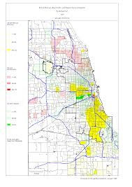 Illinois Zip Codes Map by Chicago 1990 Census Maps