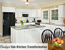 Kitchen Upgrade Ideas Budget Oak Kitchen Remodel U0026 Giveaway