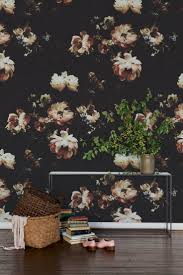 best 25 black floral wallpaper ideas on pinterest eclectic