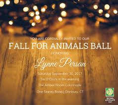 amber lighting danbury ct fall for animals ball fundraiser benefiting danbury animal welfare