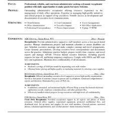 receptionist resume template hospital receptionist cv template copy receptionist resume