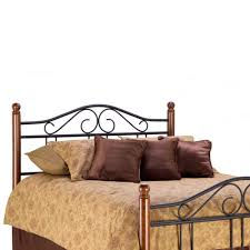 Decorative Metal Bed Frame Queen Metal And Wood Headboard Zamp Co