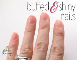 something different buffed and shiny nails 15 minute beauty fanatic