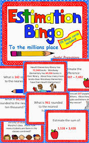 estimation word problems 4th grade estimate estimation bingo classroom activity w 35 bingo cards