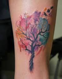 tree tattoos tree and background