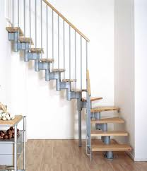 unpolished pine wood pallet stair case combined with white acrylic
