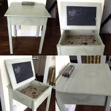Contact Paper Desk Makeover Diy Chalkboard For Kid Refinished Old Desks Spray Painted