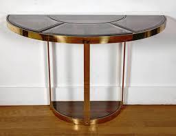 small half moon console table console table demilune half moon