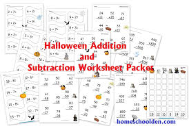 free halloween math worksheets homeschool den