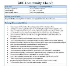 resume templates administrative manager job summary bible colossians sle church employee job descriptions job description and churches