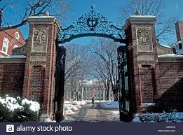 boston ma usa harvard cus entrance winter doorway