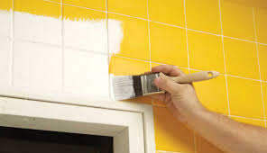 How To Paint Bathroom Tile Excellent Decoration How To Paint Tiles Valuable Idea How Paint