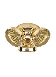 3 Light Ceiling Fan Light Kit by 16150b 02 Three Light Ceiling Fan Light Kit Polished Brass