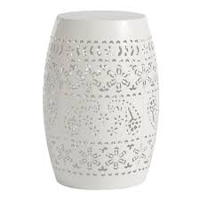 Ceramic Accent Table by Goods For Life Small Metal Garden Stool Accent Table