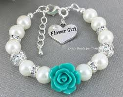 flower girl charm bracelet hot pink flower girl bracelet flower girl jewelry flower girl