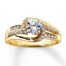 kay jewelers diamond engagement rings kay diamond engagement ring 5 8 ct tw round cut 14k yellow gold