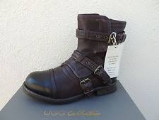 ugg elisabeta sale ugg collection elisabeta espresso brown leather boots womens 7