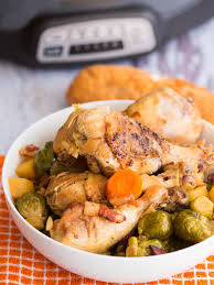 Dinner Ideas Using Chicken Slow Cooker Brussel Sprouts Recipe With Bacon And Chicken The