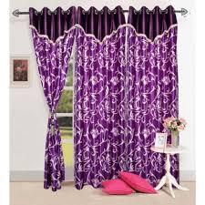 Purple Design Curtains Buy Handloom Hub Beautiful Purple Color Flower Design Curtain With