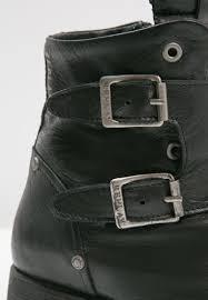 cheap leather biker boots cheap replay jeans replay misey cowboy biker boots schwarz