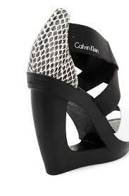 yvette elastic wedges calvin klein black shoes gomez pl