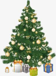 vector hand painted christmas tree vector realism hand painted
