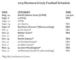 mustang football schedule 2015 griz football schedule announced