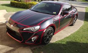 subaru frs tanner fox a tron inspired car using reflective tape