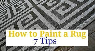 how to paint a rug seven tips to painting a perfect rug