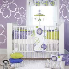 girls lilac bedding baby lavender purple green quilt crib nursery newborn cot