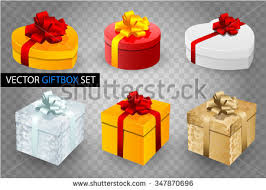 boxes with bows set vector gift boxes bows ribbons stock vector 347870696