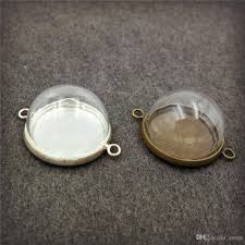 bottle cap necklaces wholesale wholesale 15mm 20mm half glass ball glass dome cover with double