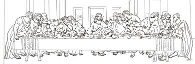 the last supper by leonardo da vinci coloring page for coloring