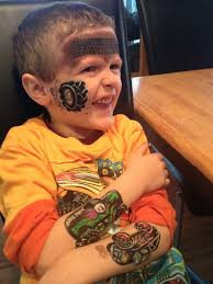 monster jam puff trucks paintertainment monster jam tire track face painting