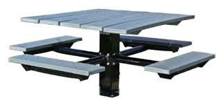 recycled plastic picnic tables picnic tables 48 single post square recycled plastic picnic tables