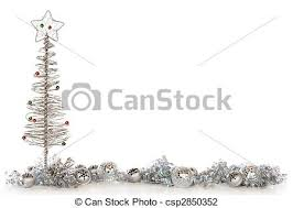 silvery christmas border a border composed of a wire stock